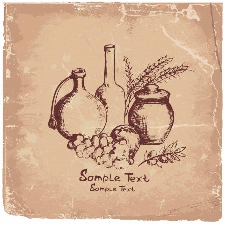 produits céréaliers: Image Hand Art de la nourriture