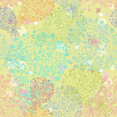 doodle seamless floral background photo