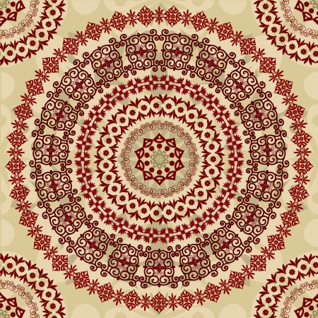 tradition traditional: arabesque seamless background Illustration