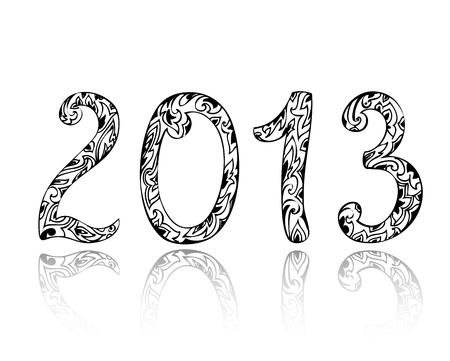 new 2013 vintage figures Stock Vector - 15649259