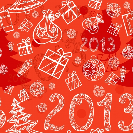 Christmas background with gifts seamless Vector
