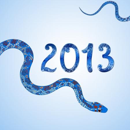 new 2013 vintage snake figures Stock Vector - 15649284