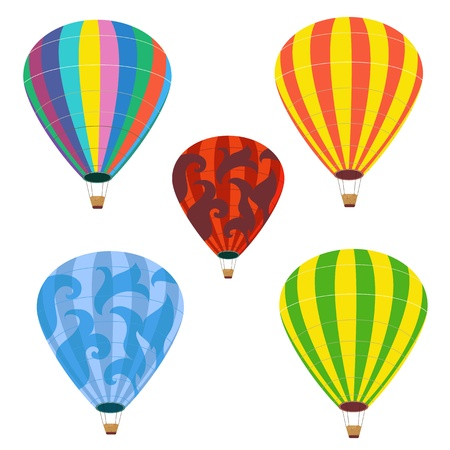 Collection of isolated balloons Vector