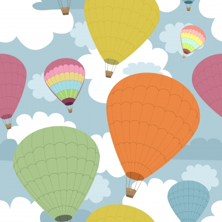 Seamless background of balloons Vector