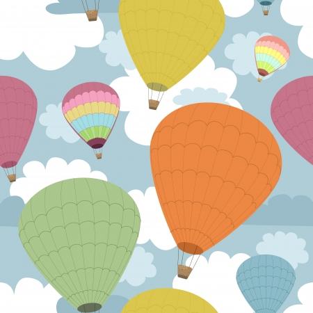 air travel: Seamless sfondo di palloncini Vettoriali