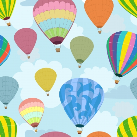 Seamless background of balloons Stock Vector - 15649276