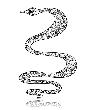 Beautiful vintage art snake Stock Vector - 15649268