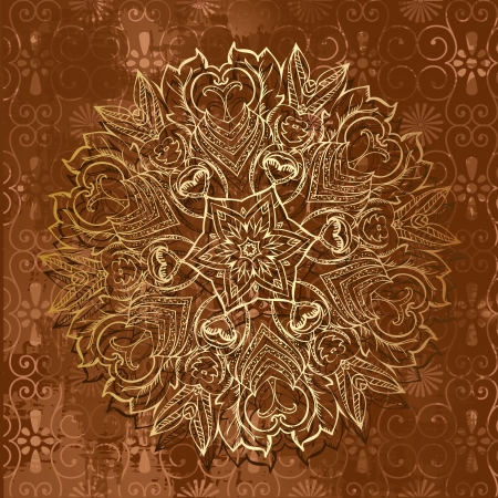 gold grunge vintage background Vector