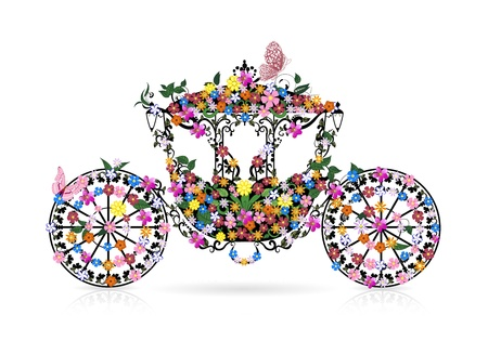 chariot: vintage floral carriage