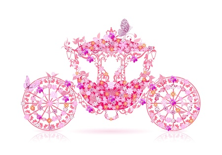 Vintage floral chariot