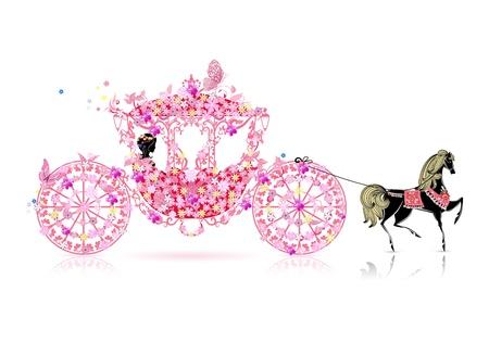 carriage: trasporto vintage floreali