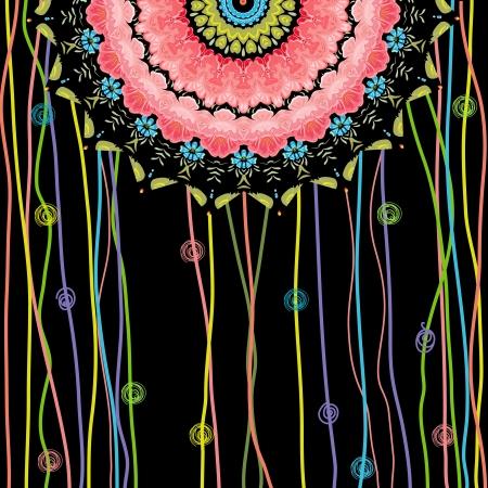 east indian: texture mandala design Illustration