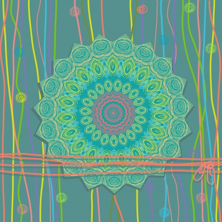 texture mandala design Vector