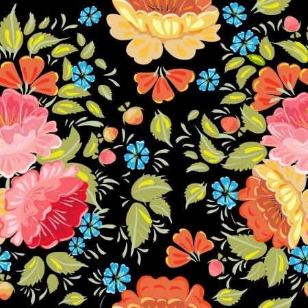russian tradition: background seamless style Khokhloma