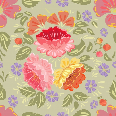 Floral seamless background texture Illustration