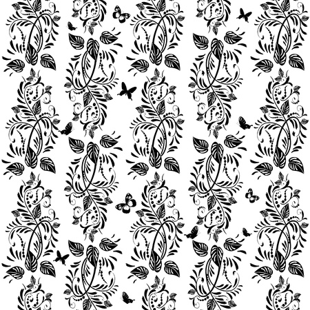 vintage floral background seamless Vector