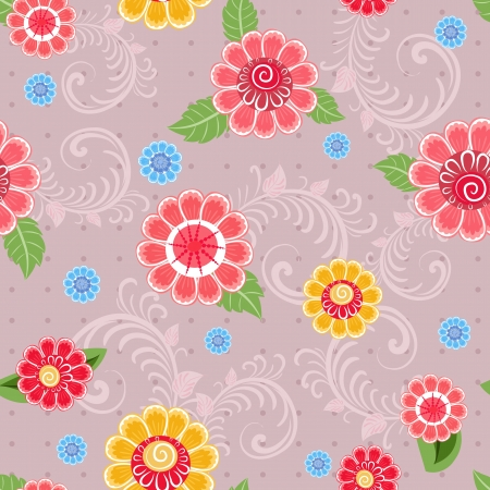 Texture seamless flowers Vector