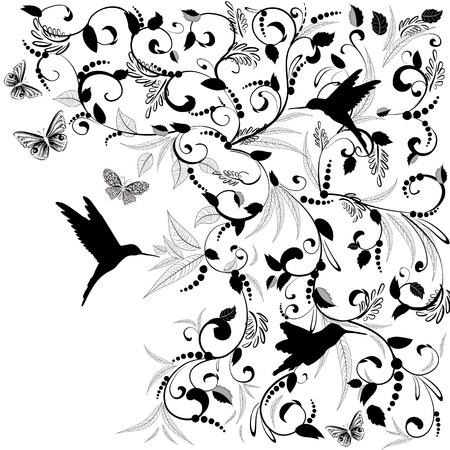 animal border: Foliate designs for greetings