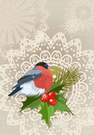 bullfinch: bullfinch Christmas card
