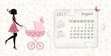 Calendar for 2013, august Stock Vector - 16593002
