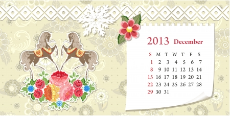 Calendar for 2013, december Stock Vector - 16593093