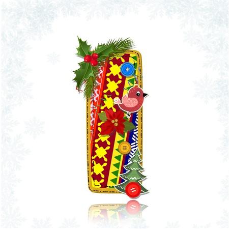 Art Christmas letter handmade Stock Vector - 16593131