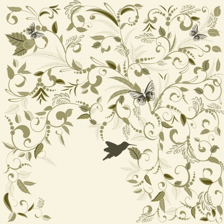 foliate: Foliate design to postcards