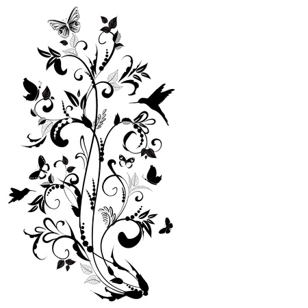 plant ornament  for your design Stock Vector - 16787501