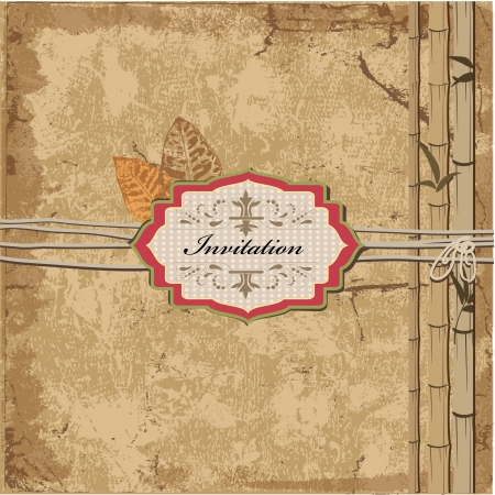 invitation vintage grunge background Vector