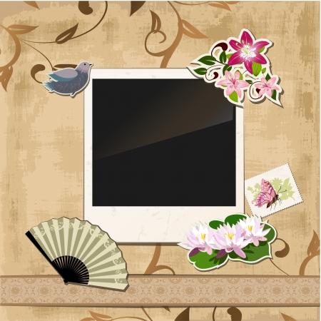 Scrapbook template Stock Vector - 16787578
