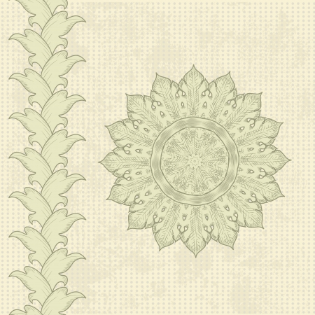 Vintage retro design in the style of Baroque Stock Vector - 17009787