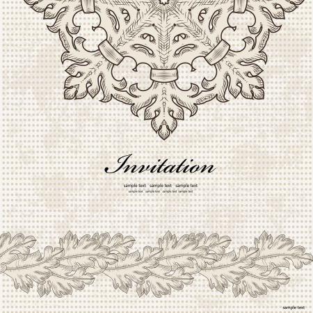 Invitation cards in an retro style  Vector