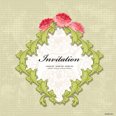 Vintage Invitation cards Stock Vector - 17009801