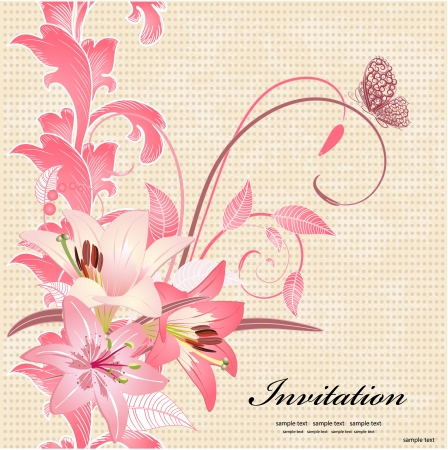 Vintage Invitation cards  Stock Vector - 17009763