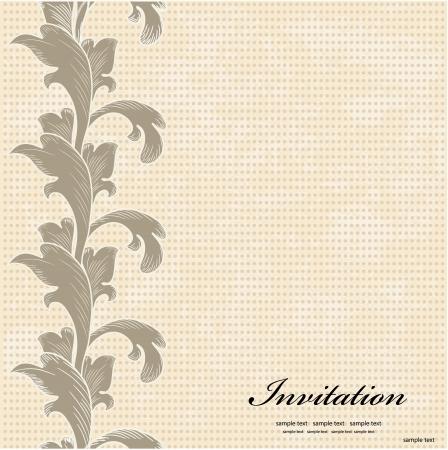Vintage Invitation cards Stock Vector - 17009758