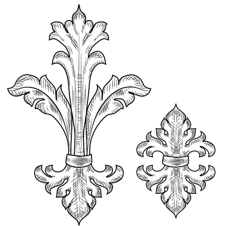Baroque design elements Stock Vector - 17009655