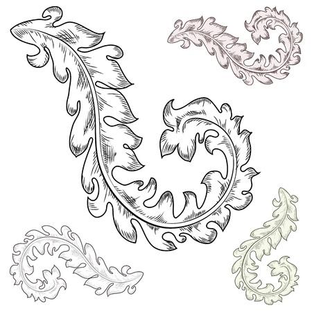 Baroque design elements Stock Vector - 17009697