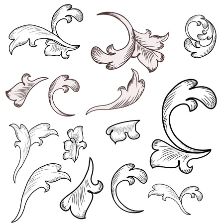 Baroque design elements  Stock Vector - 17009663