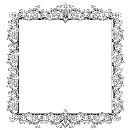 Vintage frame in style baroque Stock Vector - 17009809