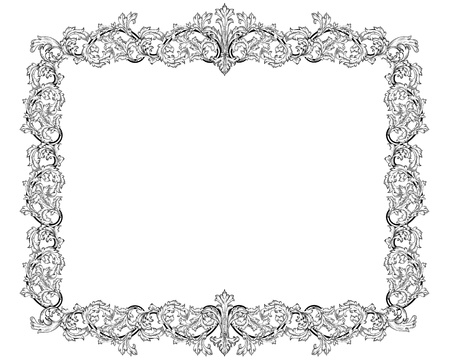 Vintage frame in style baroque Stock Vector - 17009805