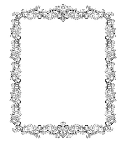 Vintage frame in style baroque Stock Vector - 17009813