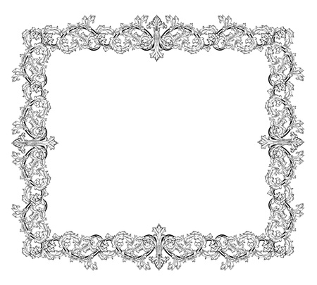 Vintage frame in style baroque Stock Vector - 17009812