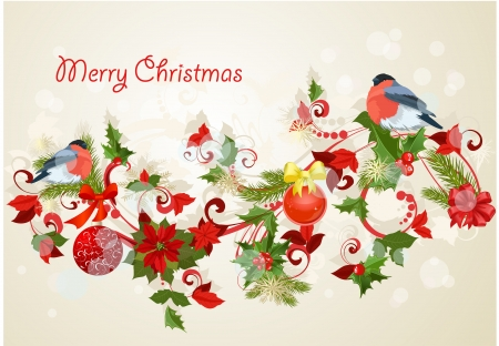 Design a Christmas greeting card Vector