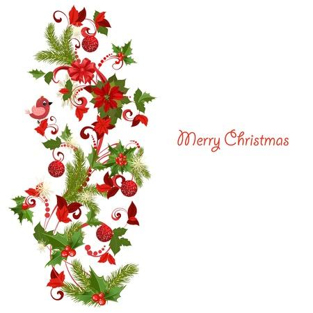 flor de pascua: La decoraci�n de Navidad Vectores