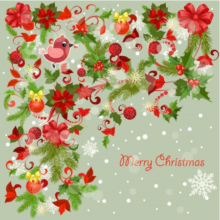 Design a Christmas greeting card Stock Vector - 17009815