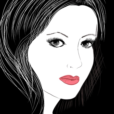 sketch of a beautiful woman Vector