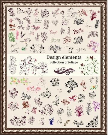 set of vintage design elements Stock Vector - 17009819