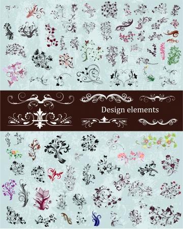set of vintage design elements Stock Vector - 17009818