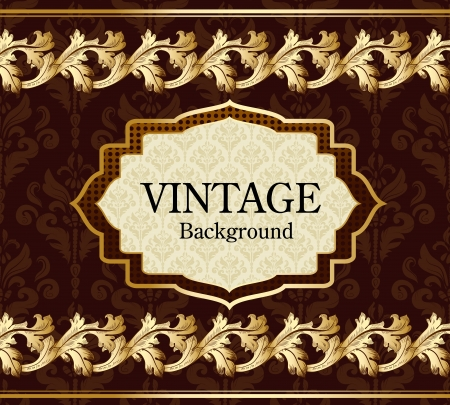 Vintage background with gold Stock Vector - 17009788