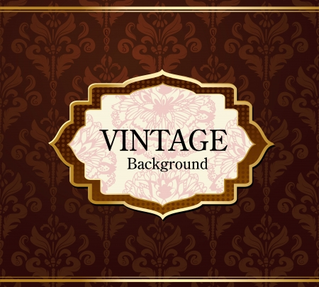Vintage background with gold Vector